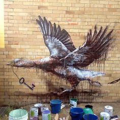"""""""Missing Keys"""" New Mural By Fintan Magee On The Streets Of Brisbane, Australia. 2"""