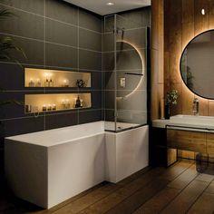 Small Bathroom Interior, Bathroom Layout, Modern Bathroom Design, Bathroom Ideas, Small Bathroom Inspiration, Bathroom Lighting Design, Washroom Design, Toilet Design, Bathroom Trends