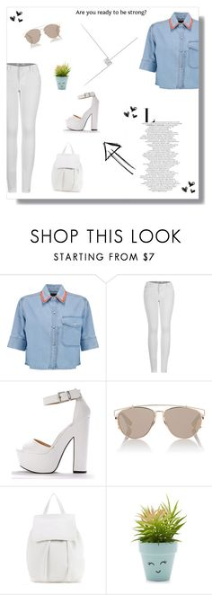 """kiss me hard before you go"" by mxrceline ❤ liked on Polyvore featuring Être Cécile, 2LUV, BeBop, Christian Dior, Mansur Gavriel and New Look"