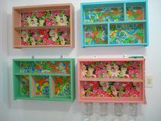 Multiartes: Chita na caixa de papelão..Artes com aproveitamento...