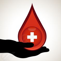 'Donate Blood - Save Life' - Blood Donation ClipArt Vector