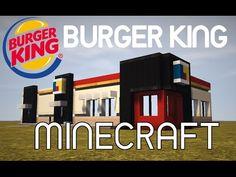 Minecraft: Burger King Tutorial - Part 1 Minecraft City Buildings, Minecraft Architecture, Minecraft Redstone, Minecraft Construction, Minecraft Creations, Pokemon, Youtube, Minecraft Furniture, Minecraft Mansion