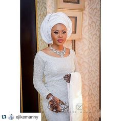 All white everything.mua @zainabazeez; photography:@ejikemanny #allwhite #tradwear #welove #inspiration