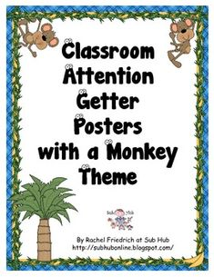 All teachers, especially substitute teachers, need an arsenal of attention getters. Many teachers use nonverbal attention getters such as bells or . Classroom Tree, Monster Classroom, Jungle Theme Classroom, Preschool Classroom, Classroom Ideas, Teaching Themes, Kindergarten Themes, Classroom Organization, Classroom Management