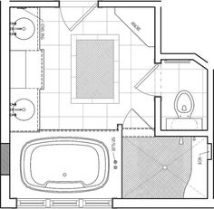 master bathroom floor plan