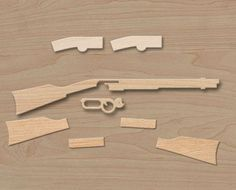 How to make a wooden toy Winchester rifle