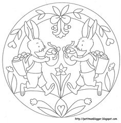 MANDALES PASQUA Easter Coloring Pages, Free Adult Coloring Pages, Mandala Coloring Pages, Colouring Pages, Coloring Books, Easter Projects, Easter Crafts For Kids, Easter Templates, Easter Art