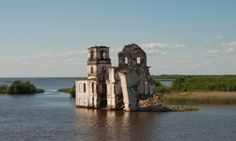 Krokhino Communities on the Volga were flooded on Stalin's orders for dams – but a few relics of the past remain