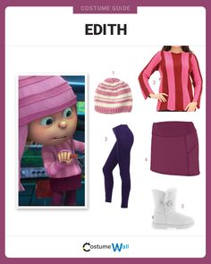 Get the cosplay look of Edith Gru, the spunky nine-year-old middle sister from the Despicable Me movies. Halloween Costumes For Teens Girls, Sister Costumes, Clever Halloween Costumes, Halloween Costume Contest, Halloween Outfits, Costumes Kids, Trendy Halloween, Creative Costumes, Group Halloween
