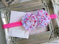 @Amber Wyatt Infant Headbands Shabby Chic Headband Pink by MayaJAccessories, $7.50