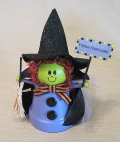 Clay Pot Witch by BeyondACard on Etsy, $10.00