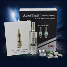 AeroTank dual coil clear atomizer coming $7.5/kit.