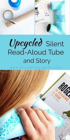 Help kids read aloud quietly with this upcycled paper towel roll that they can