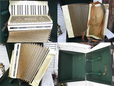 Vintage Musikinstrumente - Akkordeon Hohner Tango II Perlmut weiß shabby chic - ein Designerstück von artdecoundso bei DaWanda