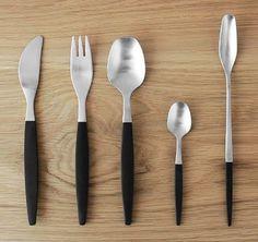"""Focus de luxe"" by Folke Ahrström for Gense, Sweden, Flatware, Dinnerware, Kitchen Dining, Lunch, Product Design, Tableware, Sweden, Handle, House"