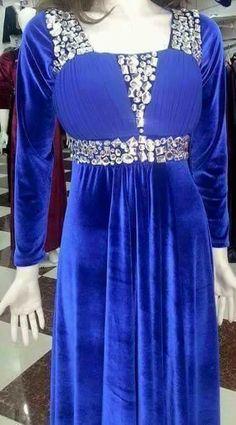 BEAUTIFUL  blue and gold Abaya