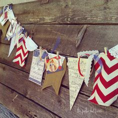 fourth of july banner by thepolkadotbarn on Etsy, $19.99