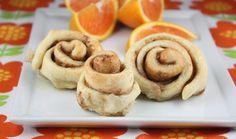 orange cinnamon buns