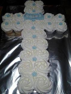 First Communion Cupcake Cake