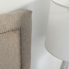 DIY upholstered headboard with nails