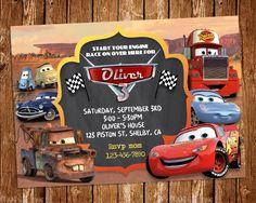 ON SALE 35 Disney Cars Invitation Cars Birthday Party Invitation