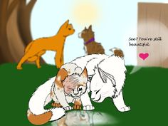 warrior+cats+brightheart+and+cloudtail | Cloudtail and Brightheart new by ArtistStallion on deviantART
