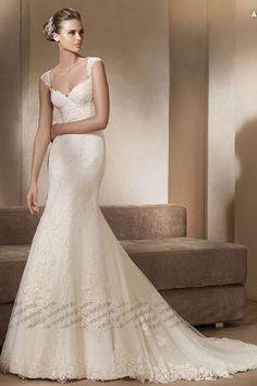 ソフトマーメイドライン ウェディングドレス コートトレーン オフショルダー アイボリー 004970001006