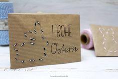 DIY bestickter Briefumschlag mit Ostermotiven // DIY embroidered Envelope with Easter Motives