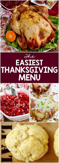 This is the easiest Thanksgiving menu you are going to find. It is full of recipes that have minimal hands on time and come together so easily.