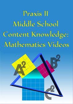 http://www.mometrix.com/academy/praxis-ii-middle-school-content-knowledge-mathematics/ Praxis II Middle School Content Knowledge: Mathematics Videos