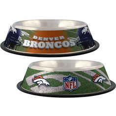 Support your team, the NFL, and your dog with this Officially Licensed, stainless steel sports dog bowl. Perfect for both food and water.SIZINGThis Pet Bowl measures 10 inches in diameter and 3 inches tall Denver Broncos, Pittsburgh Steelers, Seattle Seahawks, Dallas Cowboys, Houston Texans, Nfl Broncos, Nfl Dallas, Nfl Seattle, Cincinnati Bengals