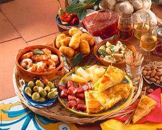 Tapas Buffet, Starters, Dairy, Cheese, Snacks, Food, Arrows, Omelet, Roast