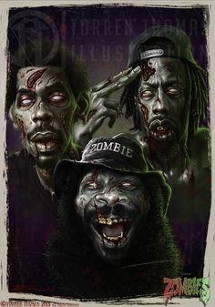 Flatbush Zombiez by Torren Thomas | Caricature | 2D | CGSociety