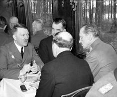 File photo shows Adolf Hitler, the dictator of Nazi-Germany, talking privately to Finnish Field Marshal C. E Mannerheim (right), commander of Finland's forces in World War II; History Of Finland, Propaganda Art, The Third Reich, Anne Frank, Military History, World War Two, Wwii, The Voice, Germany