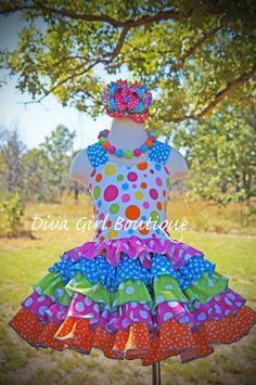 Girls Boutique Birthday Dress Pageant Dress by divagirlboutique Girls Spring Dresses, Girls Pageant Dresses, Girls Party Dress, Baby Girl Dresses, Girl Tutu, Party Dresses, Little Girl Outfits, Kids Outfits Girls, Toddler Dress