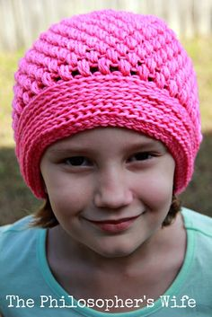 The Philosopher's Wife: Perfectly Pink Puff Hat: A Free Crochet Pattern