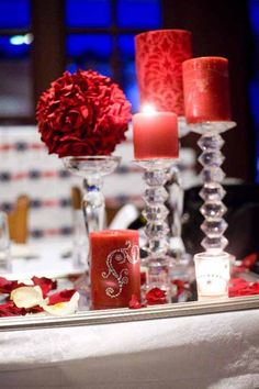 Red Wedding Table Decoration