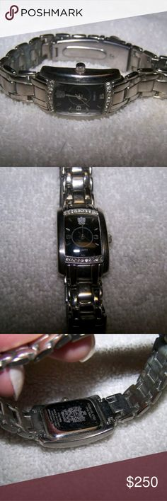 61a6616899f Woman s Pablo Gucci Watch AUTHENTIC Womans Ladies Vintage Pablo Gucci Watch  black dial with rhinestones crystals