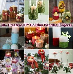 40  Creative DIY Holiday Candles Projects