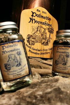 Palmetto Moonshine. Est. 2011 in Anderson, South Carolina