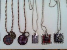 Custom made Clan MacFarlane tartan jewelry