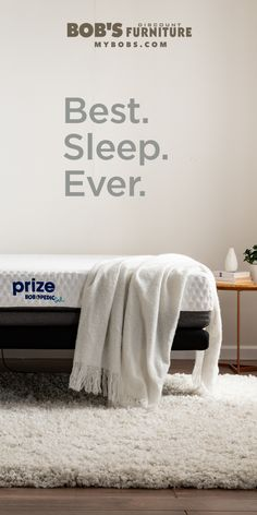 Invest in a quality mattress and spend your life counting the savings. From memory foam to pillow top, to bed in a box, shop the wide selection of mattresses at Bob's. Best Mattress, Foam Mattress, Box Bed, Furniture Ads, Great Night, Good Sleep, Mattresses, California King, Discount Furniture