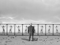 Conceptual Photos by Gilbert Garcin Magritte, Gilbert Garcin, Diorama, Black White Photos, Black And White, Eugene Ionesco, Guy Bourdin, Photography Workshops, Conceptual Photography