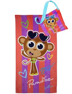 Girls Clothing   Swim Totes & Towels   Beach Towel In A Bag   Shop Justice
