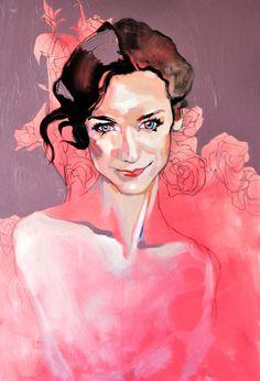 """Rose, oil on canvas, 100/70 cm, 2011"" By ""Dominik Jasiński"""