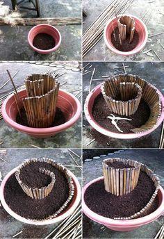 Spiral flower pot