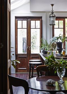 A Victorian home receives a make-under complete with salvaged period moldings, floorboards, and even era-appropriate paint colors.