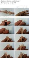 Making a figurine hand tutorial by sculptor101. Probably one of the most amazing things I have ever seen.