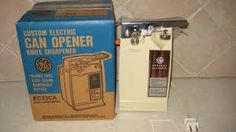 Electric can opener with knife sharpener