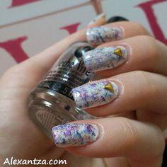 NOTD: Glitter your imagination with @alexantza  ----------------------------- PRODUCT DEETS:  Farmasi  white polish OPI  Love.Angel.Music.Baby (gold)  KIKO  497 purple (bluish)  Flormar  supershine 14 (purple)  H&M  sparkle my night glitter  Seche Vite  dry fast top coat  #opi #kiko #drybrush #nail #nails #notd #nailartaddicts #nails2inspire #nailstagram #nailsofinstagram #manicure #nailart #naildesigns #matte #mattenails